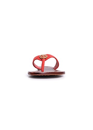 Tory Burch Thora 2 Suede 6 in Poppy Coral