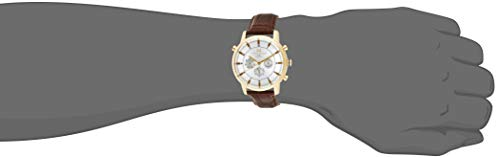 Tommy Hilfiger Men 1790874 GoldTone Watch with Brown Leather Band