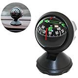 Pawaca Car Compass Ball, Self-adhesive Auto Dashboard Mini Compact Compass and Decorative Ornaments, Universal for Most Vehicles(Black): more info