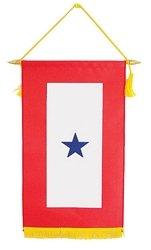 Blue Star Flag - Family Member Military Service Banner - 1 BLUE STAR