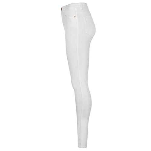 Bianco Rags Jeans Vita Donna Alta A And Rock n06xCC