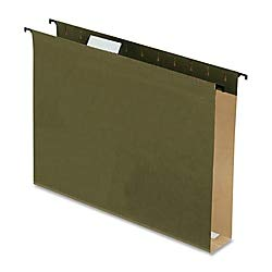 Pendaflex SureHook Extra Capacity Reinforced Hanging Folders, Letter Size, Standard Green, 20 per Box (6152X2)