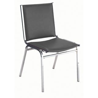 KFI Seating 410 Armless Stacking Chair, Commercial Grade, 1-Inch, Black Vinyl, Made in the USA by KFI Seating