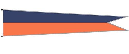 Dori Pole Pennant Flag (O.G. Blue (Navy) & Orange, 14 Foot) by Dori Pole