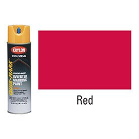 Quik-MarkTM APWA Solvent-Based Red Inverted Marking Paint [Set of -