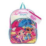 Nickelodeon Shimmer and Shine Backpack with Two Side Mesh Pockets, Pencil Case and Sticker Sheet