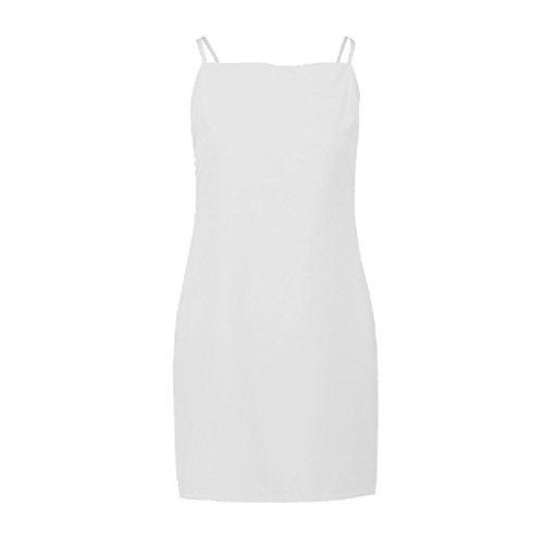 Vestito Coolred Fionda Bianco Sexy Arco Backless Solido Spiaggia donne Da Partito 66aEUqf4
