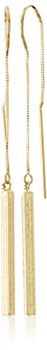 Yellow Gold Dangling Threader Earrings - 5