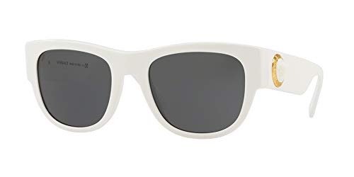 Versace Mens Sunglasses White/Grey Acetate - Non-Polarized - - 87 Sunglasses Acetate