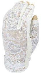 Evertan Women's Tan Through Three Quarter Golf Glove: Gilded Floral - Medium Left Hand