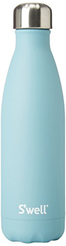 S'well Vacuum Insulated Stainless Steel Water Bottle, 17 oz, Aquamarine
