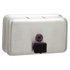 Horizontal Liquid Soap Dispenser ((3 Pack Value Bundle) BOB2112 ClassicSeries Surface-Mounted Liquid Soap Dispenser, Horizontal, 40 oz, Metal)