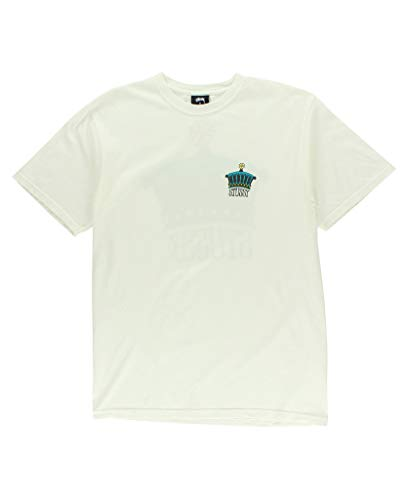 Stussy Men T-shirt - Stussy Mens The Crown Pig. Dyed T-Shirt, Size: Small, Color: Natural