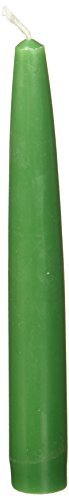 Zest Candle 12-Piece Taper Candles, 6-Inch, Hunter Green