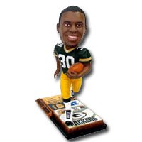 Green Bay Packers 2004 Ticket Base Ahman Green NFL Limited Edition Bobble Head Doll