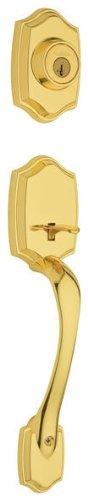 (Belleview Single Cylinder Entrance Handleset Finish: Polished Brass)