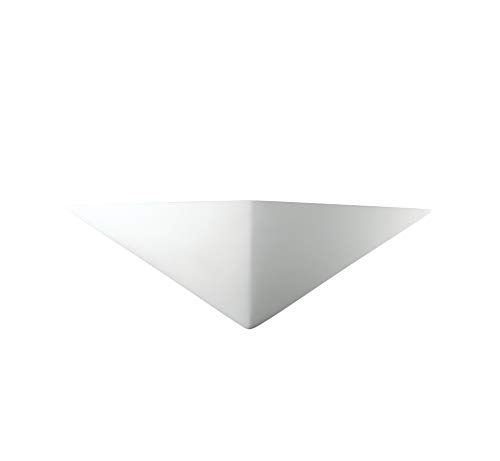 Justice Design Group Lighting CER-5140-BIS Justice Design Group - Ambiance Collection - ADA Triangle Wall Sconce - Bisque Finish