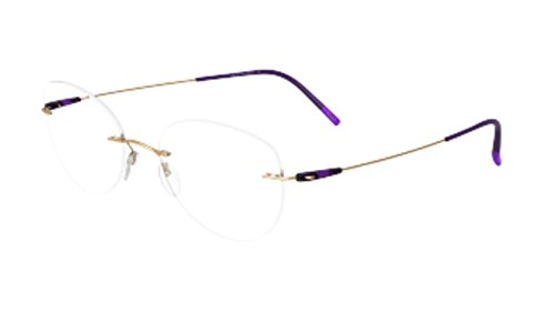 Silhouette Women's Dynamics Colorwave Chassis 5500 7530 Optical Frame - Eyeglasses Silhouette Rimless