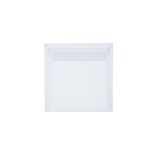 25Buste Quadrato 220X 220mm 22x 22cm con strisce adesive, 100G Paper24