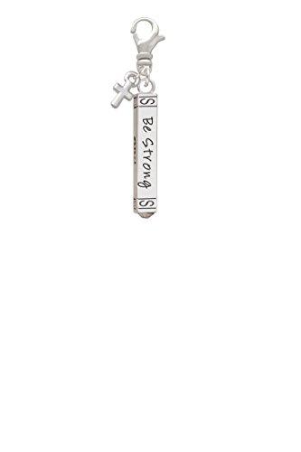 Mini Antiqued Cross Charm - 4