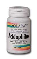 [Solaray Acidophilus Plus Goat's Milk 3billion Supplement, 100 Count] (Goat Milk Digestion)