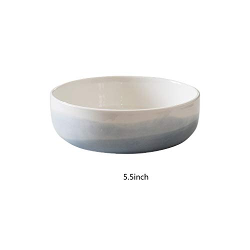 Bowl 5.5/7.5inch Round Pet Cereal Soup Snack Retro European Round Large Diameter Ceramic Pasta, Application for Microwave Ovens, Disinfection Cabinets (Size : ()