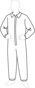 Liberty ProGard SMS Polypropylene Zipper Front Coverall with Elastic Wrists and Ankles, X-Large (Case of 25)