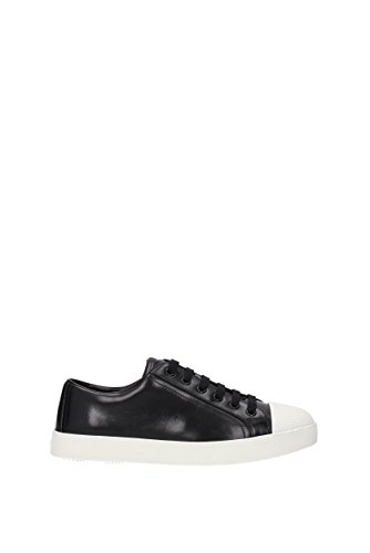 Prada Pelle 3e6202vitellosoft Uk Donne Nero In Sneakers 1pn1US