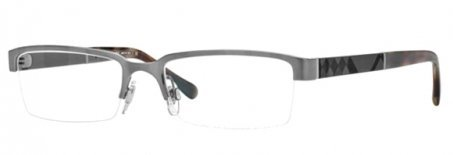 Burberry BE1267 Eyeglasses-1008 Brushed Gunmetal-52mm