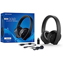 Sony PlayStation Gold Wireless Headset 7.1 Surround Sound PS4 New Version 2018 by Sony