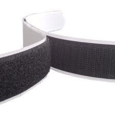 5m Hook and Loop Tape, Black, 20mm Wide Self Adhesive, Sticky backed Anycraft-UK
