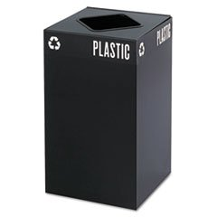 Public Recycling Container Square Steel - 6