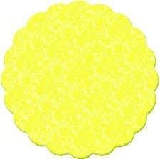 Tapetinho De Brigadeiro / Intermediate Plastic Liner for Candies (9 cm, Yellow Lace /