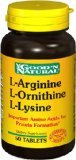 L-Arginine / Ornithine L / L Lysine - 50 comprimés, Good'n (naturel)