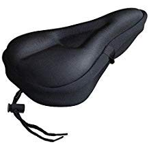 Gel Bike Seat Cover- Bike Saddle Cushion, Extra Soft Padded Bike Seat Cover – Bike Saddle Cushion With Water Fits Spin, Stationary, Cruiser Bikes, Indoor Cycling, Soft, Exercise Bike And Stationary C