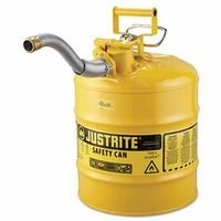Type II AccuFlow Safety Cans, Diesel, 5 gal, Yellow, 1'' Hose (2 Pack)