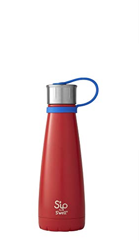 10 Oz Kids Water Bottle - S'ip by S'well 20010-A19-14360 Water Bottle, 10oz, Red Robin