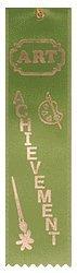 Art Achievement Real Ribbon Award, pack of 15