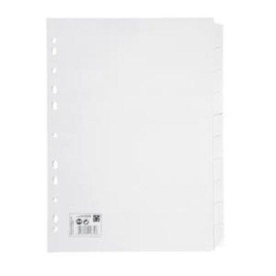 5 Star cuadernos sujetos Multiperforadas Manila 10 partes tarjeta A4 blanco