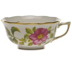 Herend American Wildflowers Prairie Rose Tea - Rose Cup Prairie