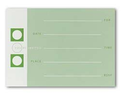 UPC 601952358654, Masterpiece Chartreuse Fill-in Flat Card - 5.5 x 7.75 - 10 Flatcards & 10 Envelopes