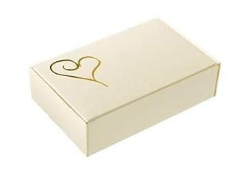Aromaroma Cajas para Tarta - Marfil y Gold Heart, 10 Unidades: Amazon.es: Hogar