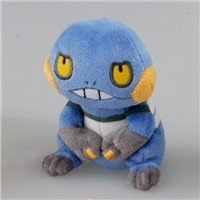 "POKEMON PLUSH BEANIES CROAGUNK 4"" IMPORT FROM JAPAN"