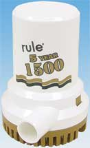 Rule 04 1500 Old Series Non-Automatic Submersible 12V DC Bilge Pump ()
