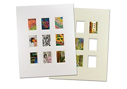 Viewpoint Artist Trading Card Collage Double Mat (Individual) 16×20'' - White/White by View Point