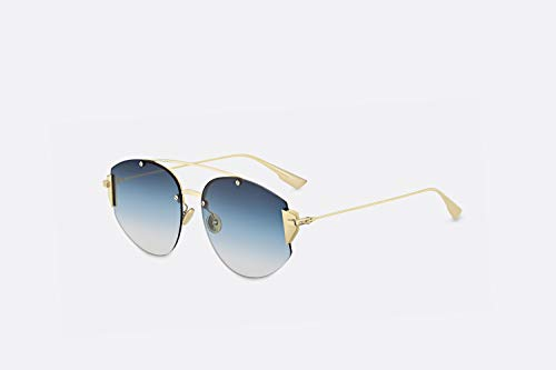 Christian Dior Stronger sunglasses 000NE Gold/Blue gradient lenses new