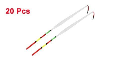 20pcs 24cm Longueur Multicolor pointe fine en plastique flotteur de pêche wagglers Bobber
