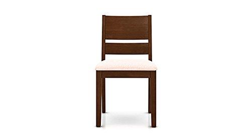 Urban Ladder Cabalo Dining Chairs, Set of 2 (Dark Walnut Finish, Beige)