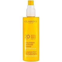 Clarins Sunscreen Spray Gentle Milk-lotion, 5.3-Ounce