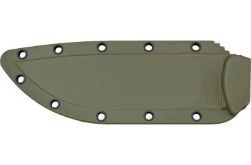 ESEE Knives 6P Fixed Blade Knife w/Molded Polymer Sheath (Black Blade/OD Green Sheath) by ESEE (Image #2)